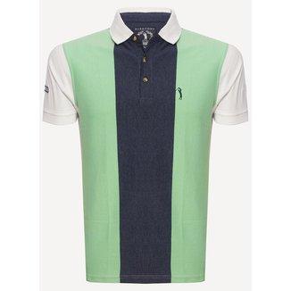 Camisa Polo Aleatory Listrada Right Masculina