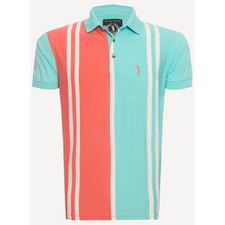 Camisa Polo Aleatory Listrada Way Masculina