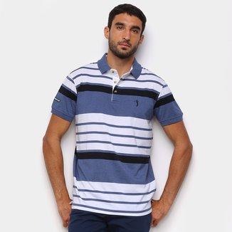 Camisa Polo Aleatory Listras Color Masculina