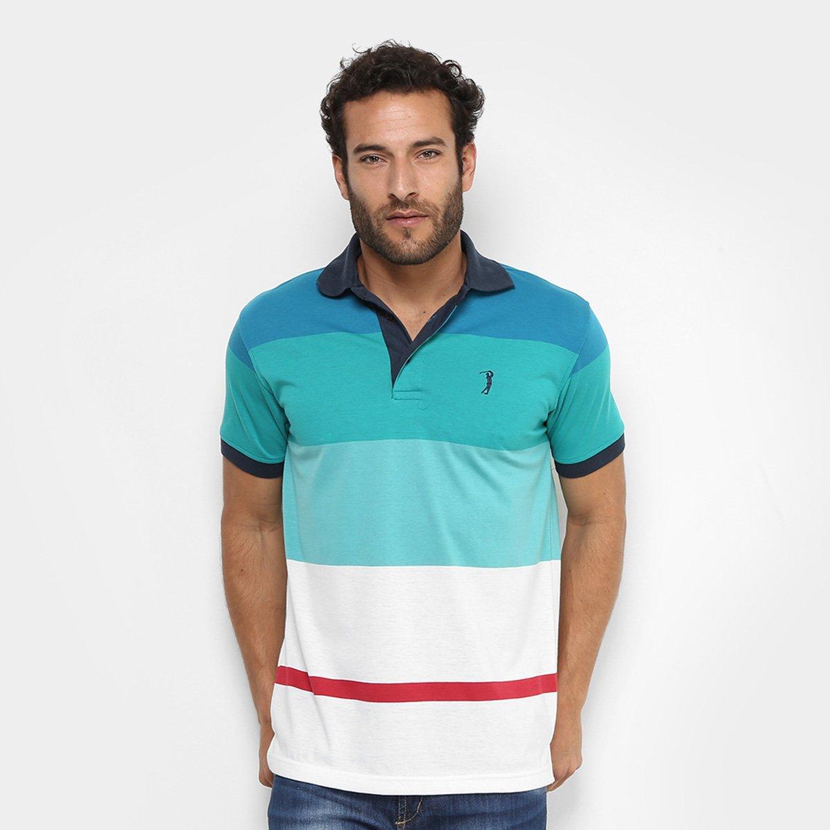Camisa Polo Aleatory Listras Coloridas Masculina - Compre Agora ... 5d5ec640f3769