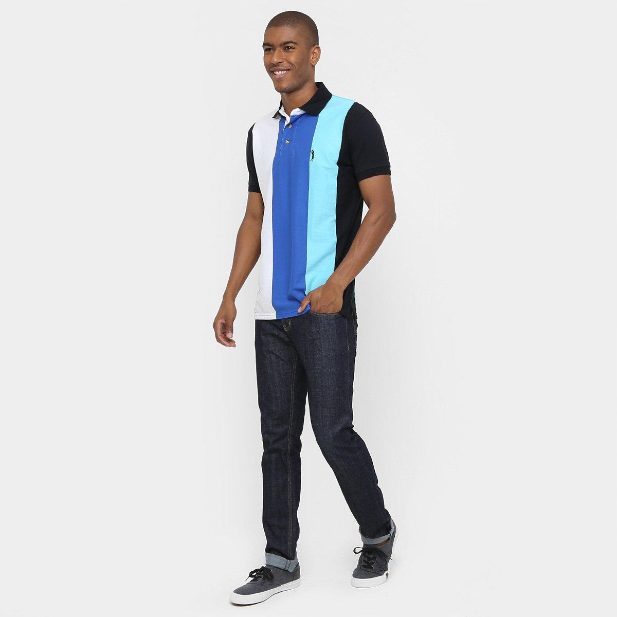 8978ec1323 Camisa Polo Aleatory Malha Listras Verticais - Compre Agora