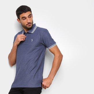Camisa Polo Aleatory Poá Masculina