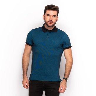 Camisa Polo Algodão Masculino Jacquard Casual Conforto