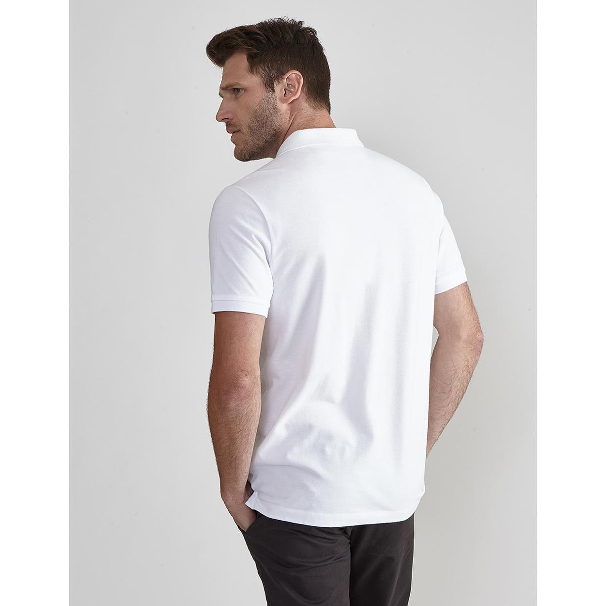 Camisa Polo Básica Lisa Aviator Masculino - Branco