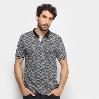 Camisa Polo Broken Rules Estampa Geométrica Masculina