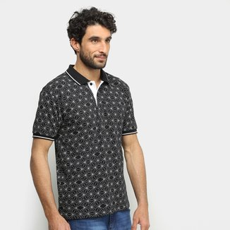 Camisa Polo Broken Rules Geométrica Masculina