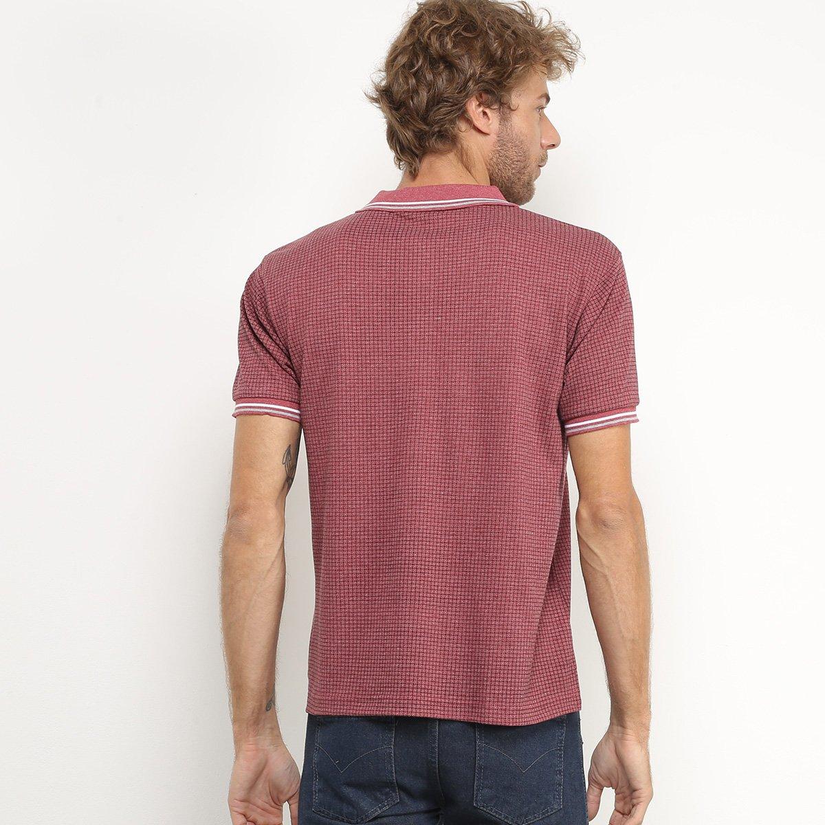 Camisa Polo Broken Rules Masculina - Vinho