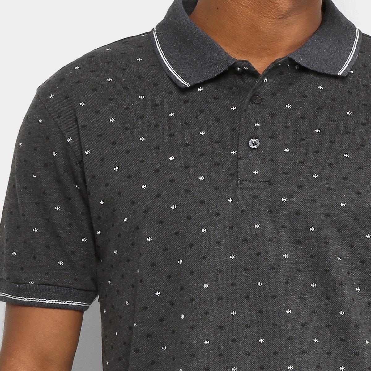 Camisa Polo Broken Rules Piquet Mini Estampa Escamas Masculina ... 93cce26978500