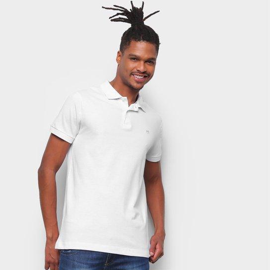 Camisa Polo Buckman Manga Curta Masculina - Branco