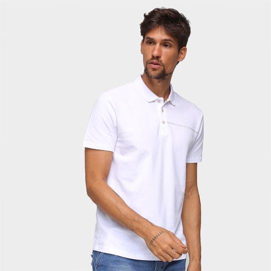 Camisa Polo Calvin Klein Com Botões Masculina - Branco
