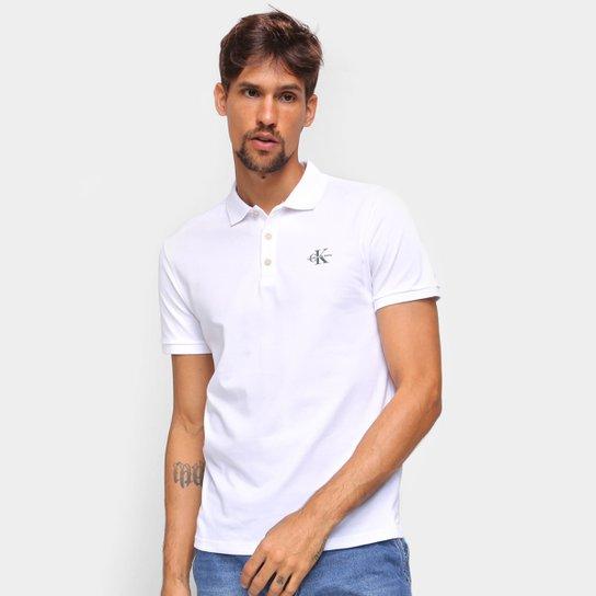 Camisa Polo Calvin Klein Lisa Masculina - Branco