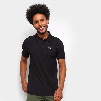 Camisa Polo Calvin Klein Logo CK Masculina