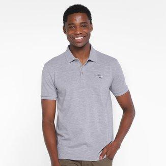 Camisa Polo Calvin Klein Logo Masculina