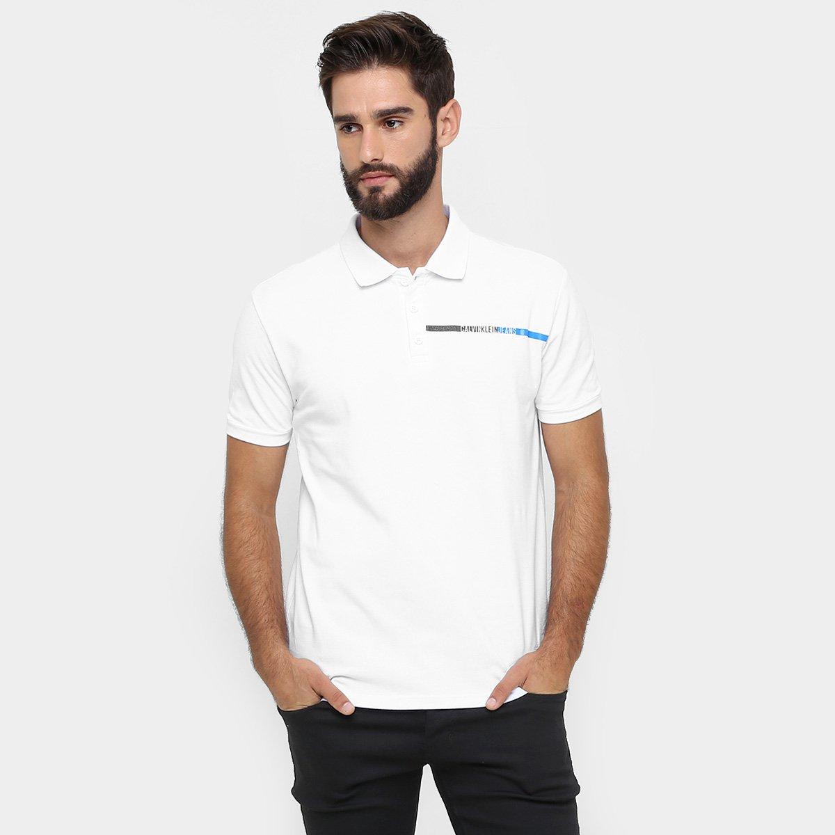 c8e1594146 Camisa Polo Calvin Klein Piquet Básica - Compre Agora