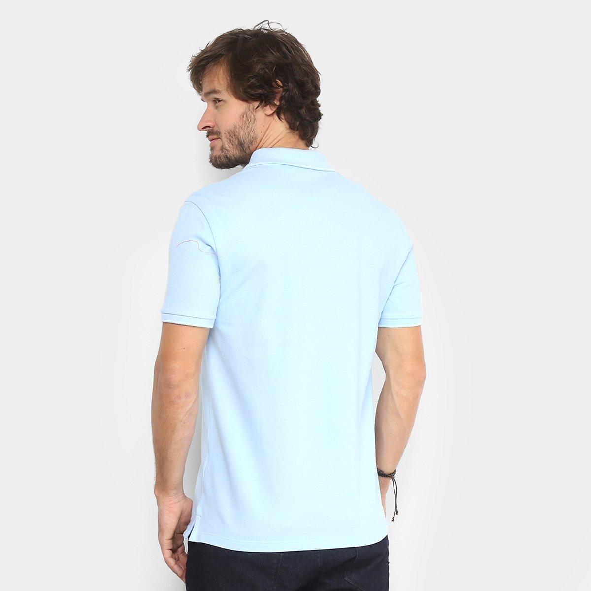 Camisa Polo Calvin Klein Slim Masculina - Azul Claro - Compre Agora ... 2b6ab8e4361fd
