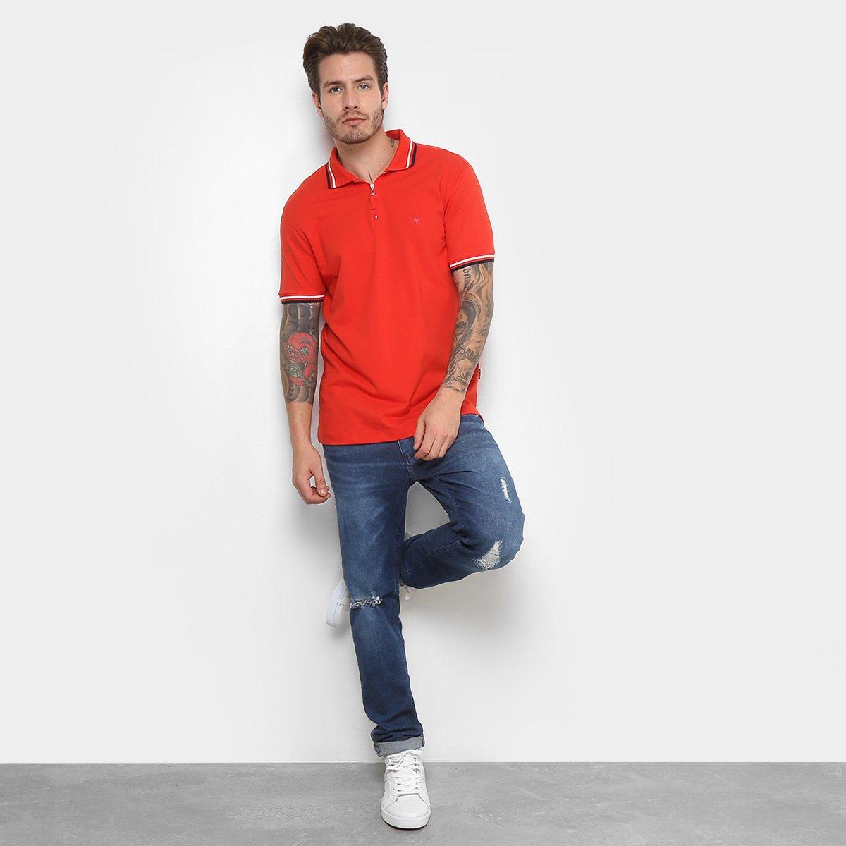 Camisa Polo Cavalera com Zíper Masculina - Vermelho - Compre Agora ... 81d720f5f06c6