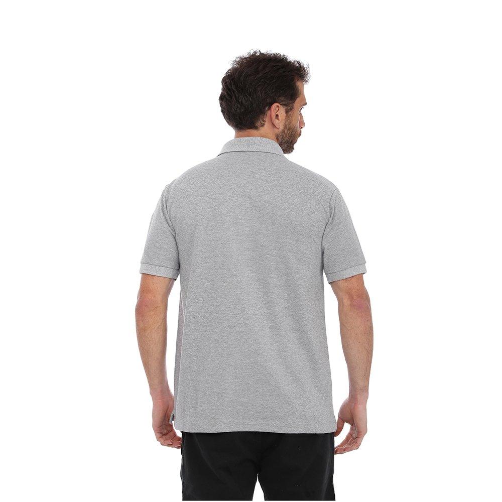 Camisa Polo Clube Náutico Slim Masculino - Cinza