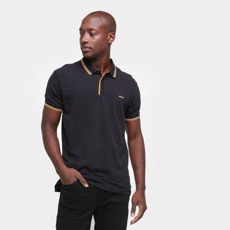 Camisa Polo Colcci Básica Logo Masculina