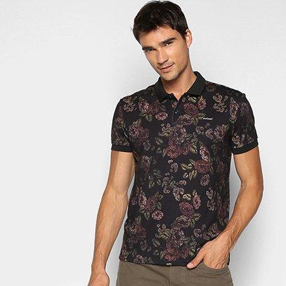 Camisa Polo Colcci Floral Masculina