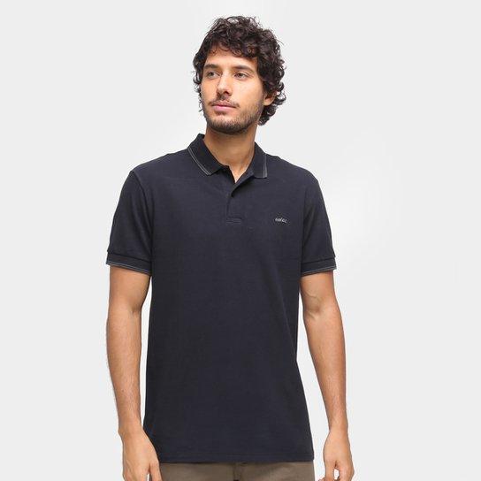 Camisa Polo Colcci Frisos Masculina - Preto