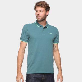 Camisa Polo Colcci Lisa Manga Bicolor Masculina