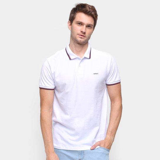 Camisa Polo Colcci Lisa Masculina - Branco