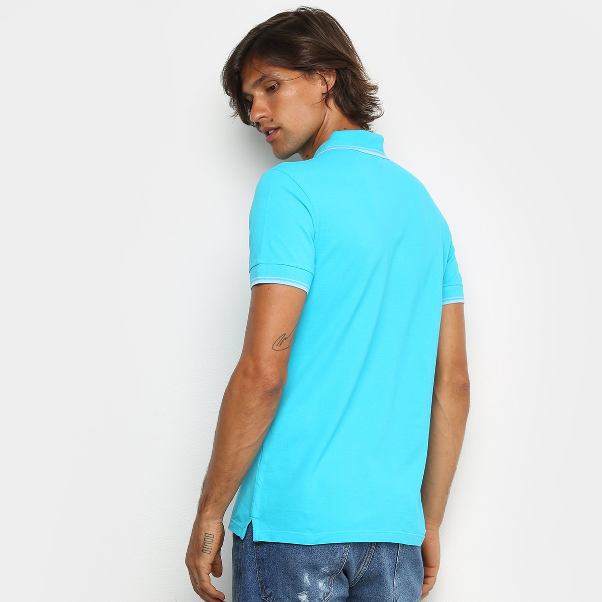 Camisa Polo Colcci Masculina - Azul Royal