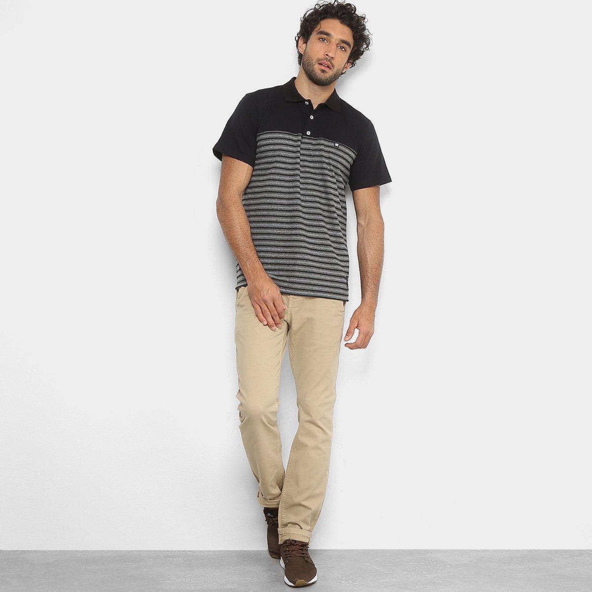 Camisa Polo DC Shoes Listras Masculina - Compre Agora  6479100ee92
