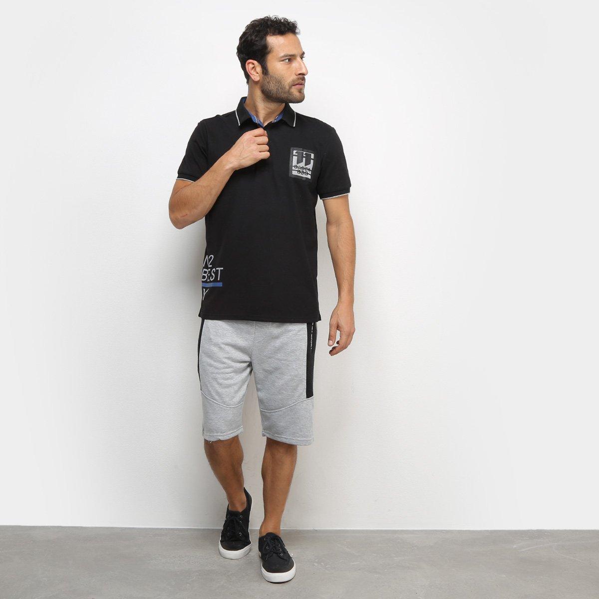 Camisa Polo Eagle Rock Gader BBO Masculina - Preto