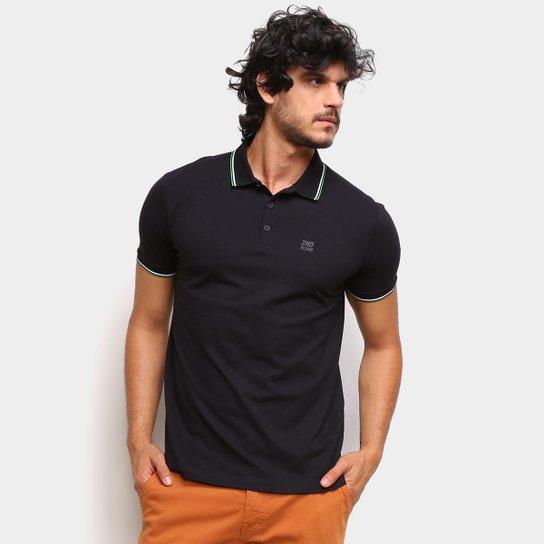 Camisa Polo Ellus 2Nd Floor Básica Lisa Masculina - Preto