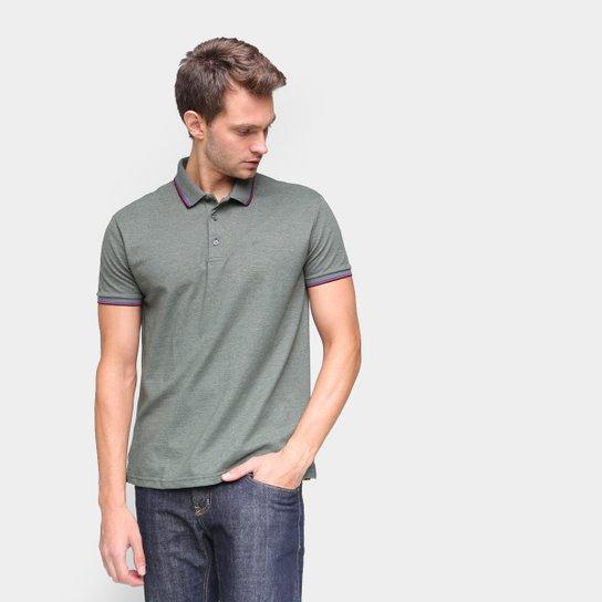 Camisa Polo Ellus Frisos Classic Masculina - Verde Militar