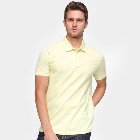 Camisa Polo Ellus Lisa Masculina - Amarelo Claro