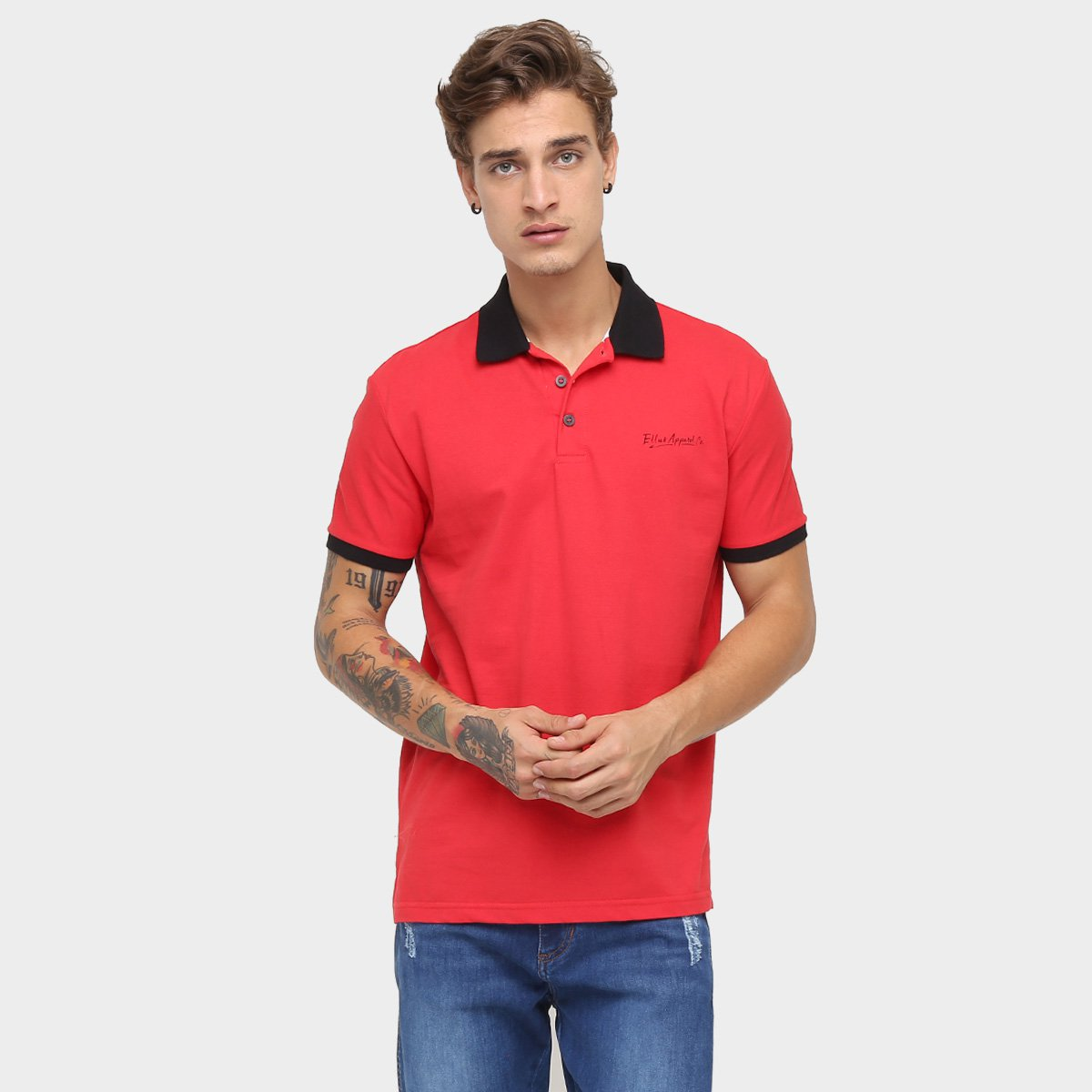 Compre Armário Classic Líder Design Vermelho: Camisa Polo Ellus Piquet Classic - Compre Agora