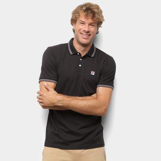 Camisa Polo Fila Premium Masculina - Preto