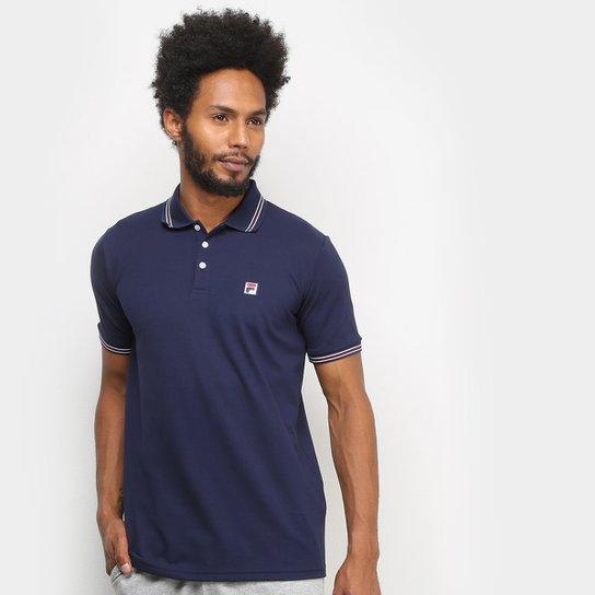 Camisa Polo Fila Premium Masculina - Marinho