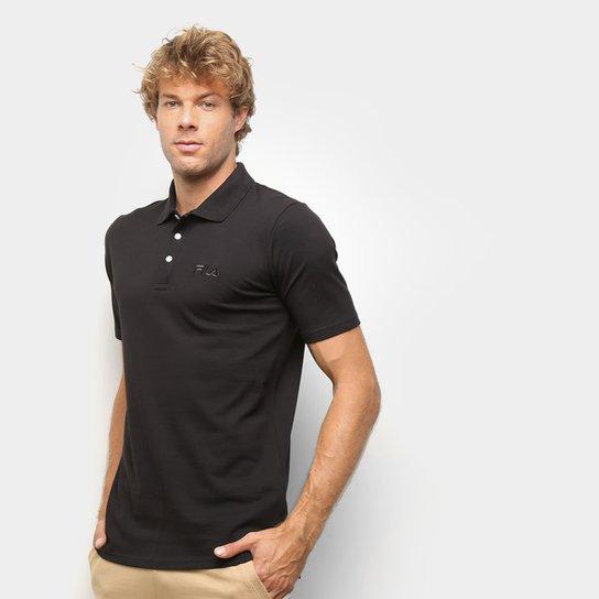 Camisa Polo Fila Select Masculina - Preto