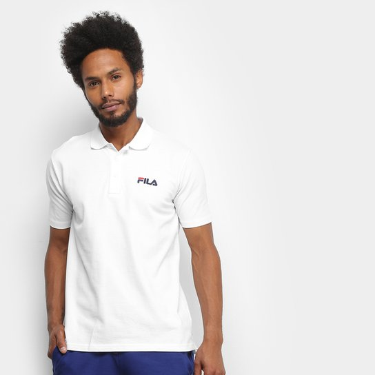 Camisa Polo Fila Select Masculina - Branco