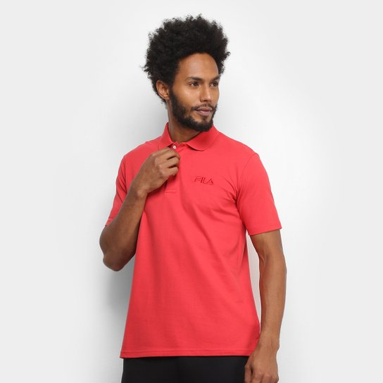 Camisa Polo Fila Select Masculina - Vermelho