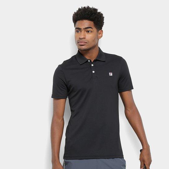 Camisa Polo Fila Spot II Masculina - Preto