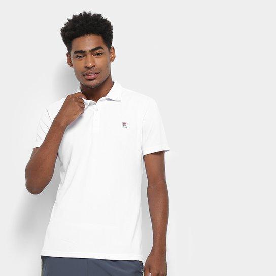 Camisa Polo Fila Spot II Masculina - Branco
