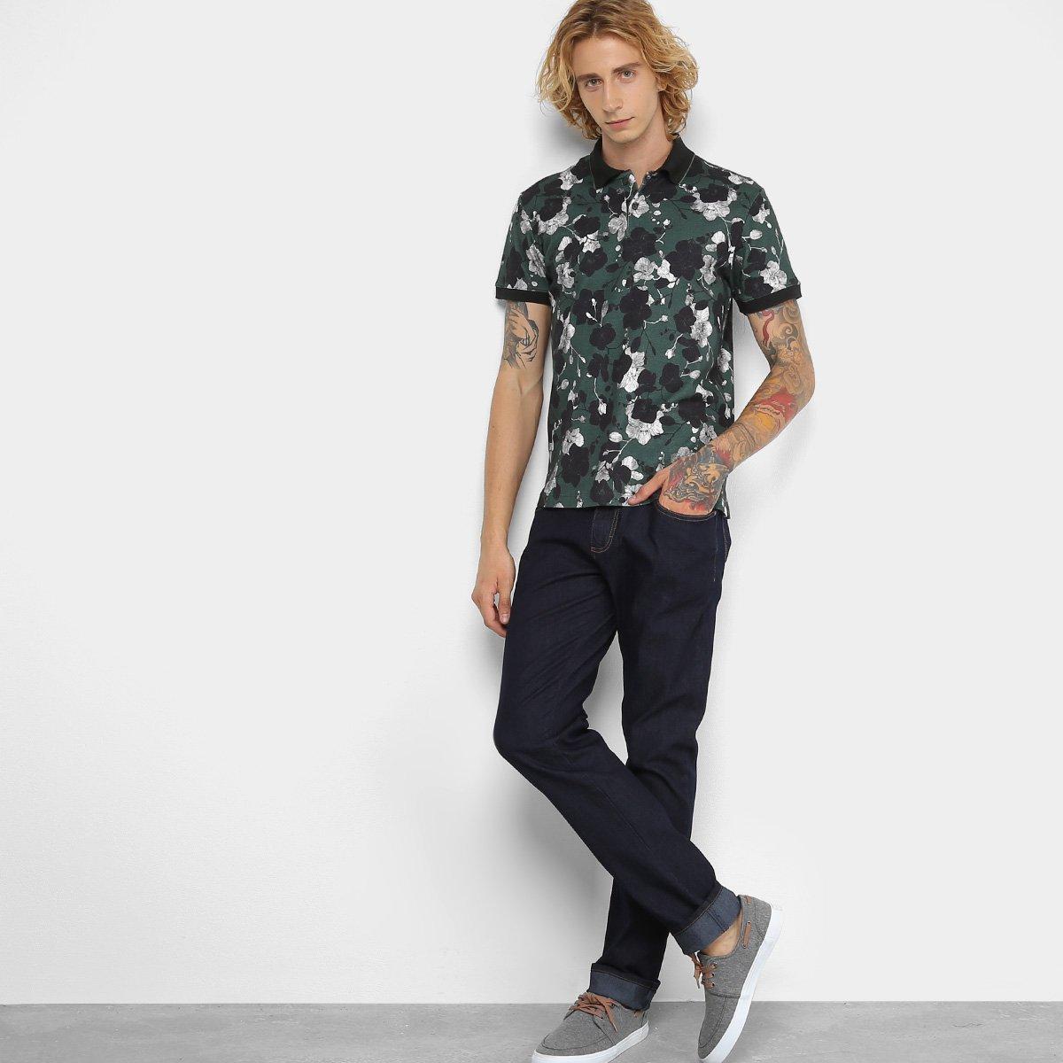 2924cfa4c5 Camisa Polo Forum Floral Masculina - Compre Agora