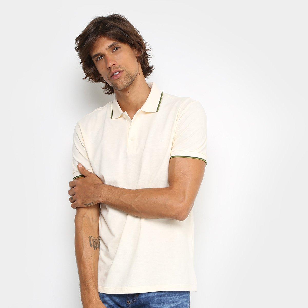 Camisa Polo Forum Piquet Frisos Color Masculina - Off White - Compre ... 8e5d1d9a6635a