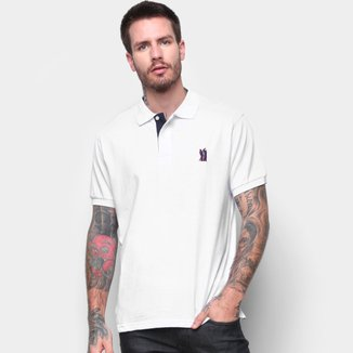 Camisa Polo Fourty Básica Manga Curta Masculina