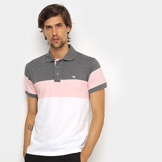 Camisa Polo Gajang Color Block Masculina