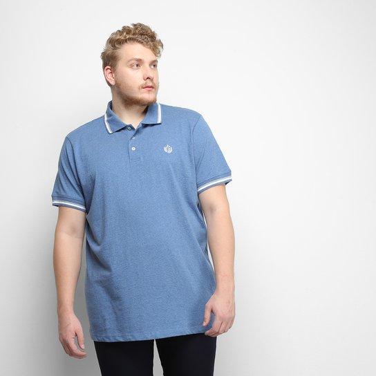 Camisa Polo Gajang Euro Constance Plus Size Masculina - Azul