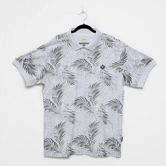 Camisa Polo Gajang Folhagem Plus Size Masculina
