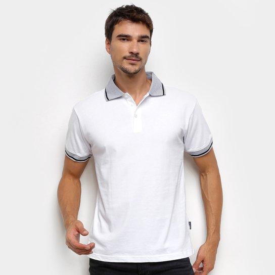 Camisa Polo Gajang Lisa Masculina - Branco