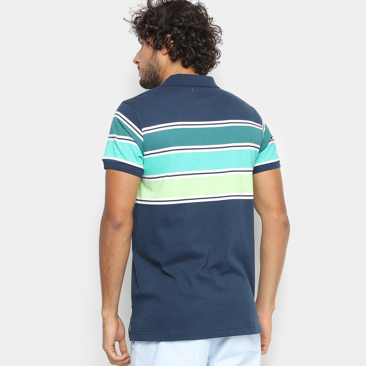 Camisa Polo Gajang Listras Masculina - Marinho