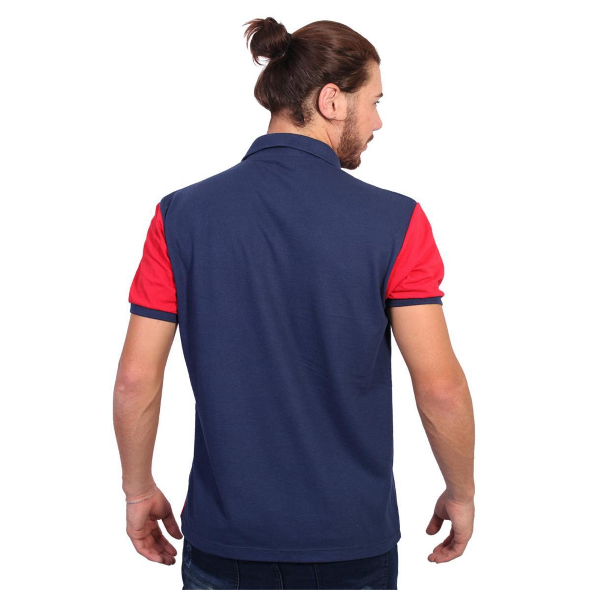 61cd5ba93c Camisa Polo Golf Club Listrada - Marinho e Vermelho - Compre Agora ...