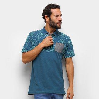 Camisa Polo HD Floral C/ Bolso Masculina